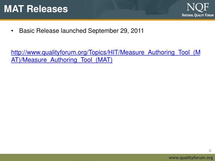MAT Releases