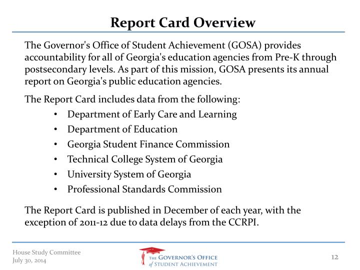 Report Card Overview