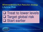 atherosclerosis risk reduction strategy lifetime risk