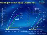 framingham heart study lifetime risk