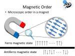 magnetic order