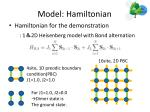 model hamiltonian