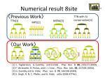 numerical result 8site1