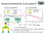 numerical result for 4 site system 1