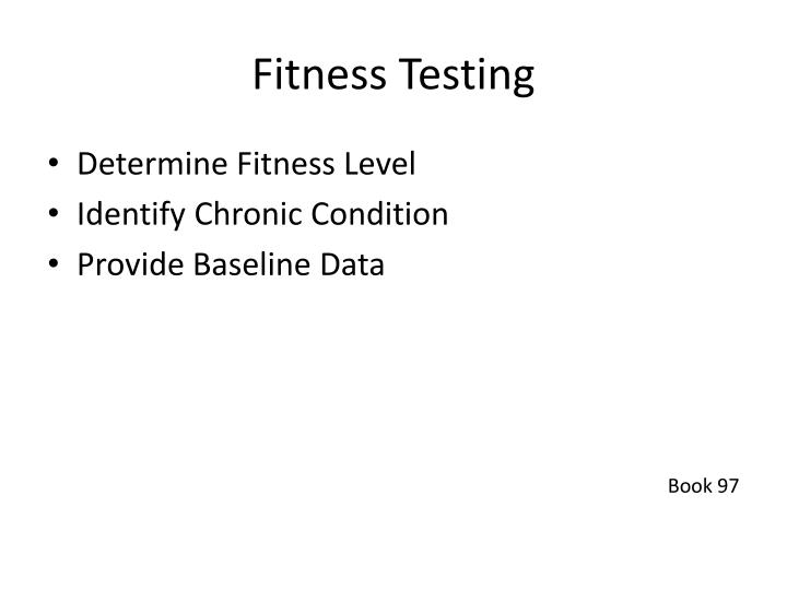 PPT - Fitness Testing PowerPoint Presentation - ID:3172994