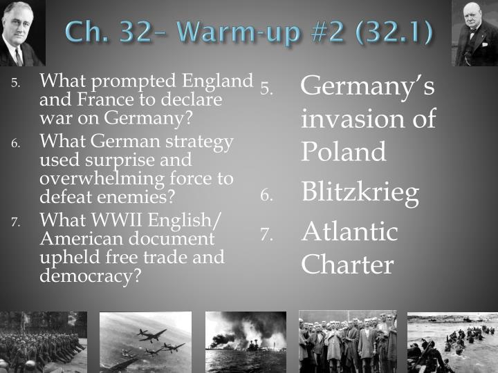 Ch. 32– Warm-up #2 (32.1)