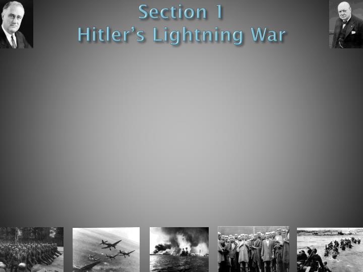 Section 1 hitler s lightning war