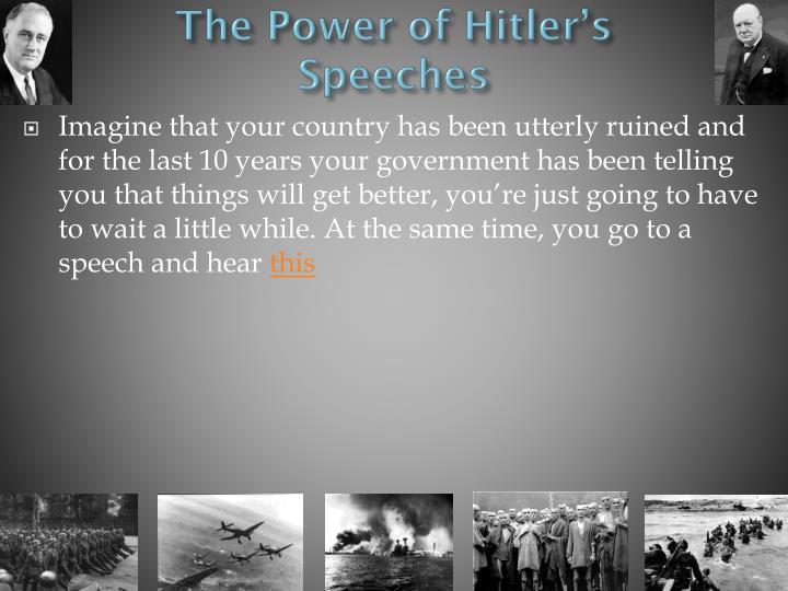 The Power of Hitler's Speeches