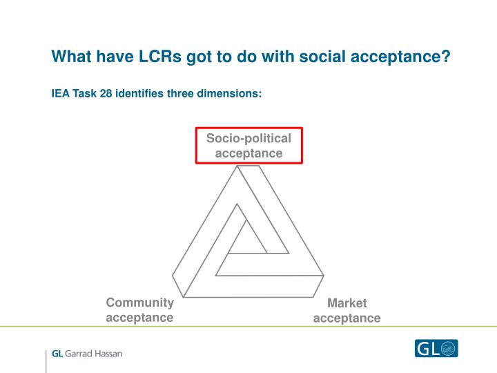 What have LCRs got to do with social acceptance?