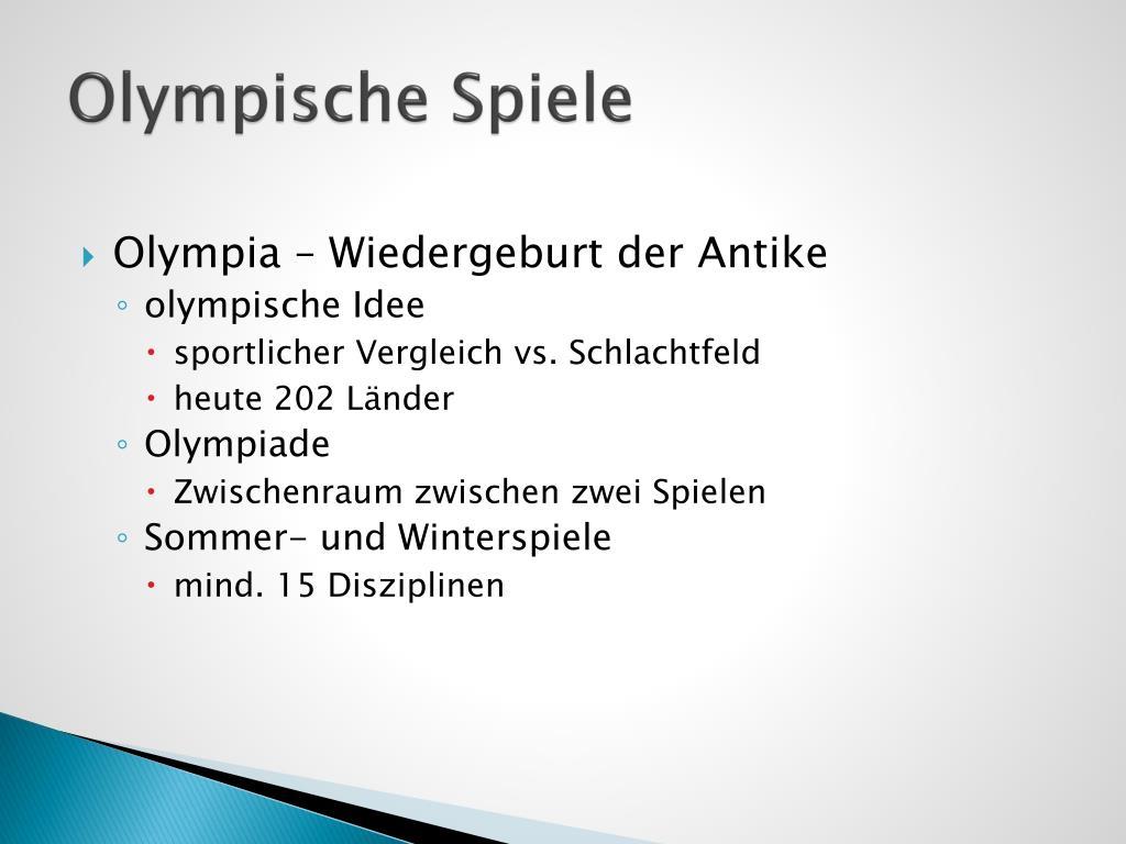 Ppt Olympische Spiele Powerpoint Presentation Free Download Id 3174022