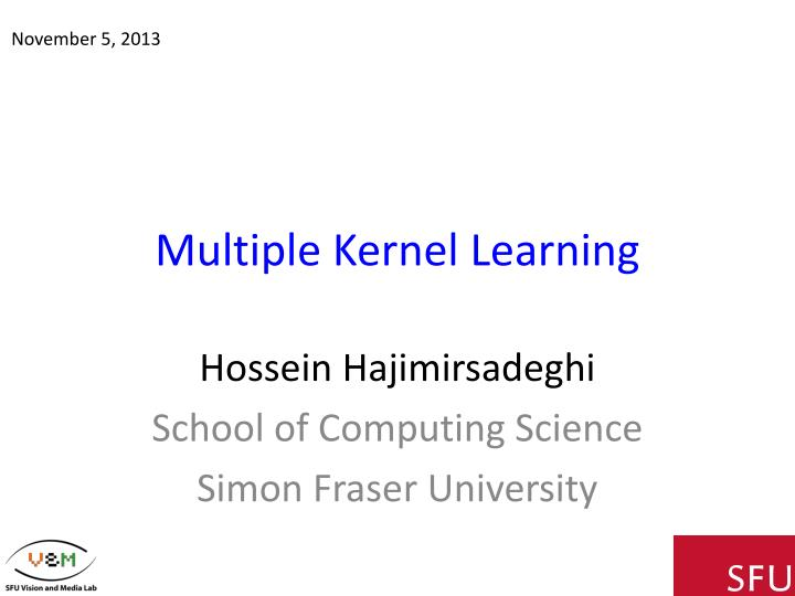 multiple kernel learning n.
