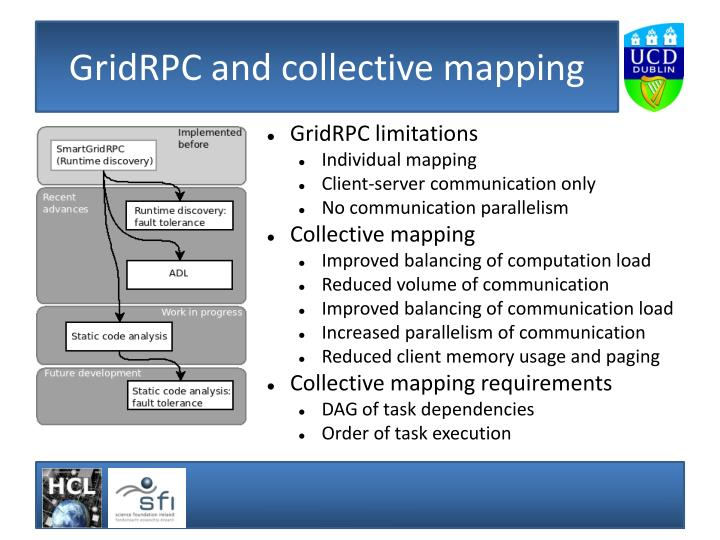 Gridrpc and collective mapping