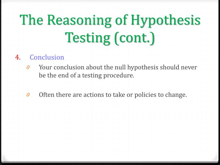 The Reasoning of Hypothesis