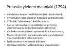 preussin yleinen maanlaki 1794