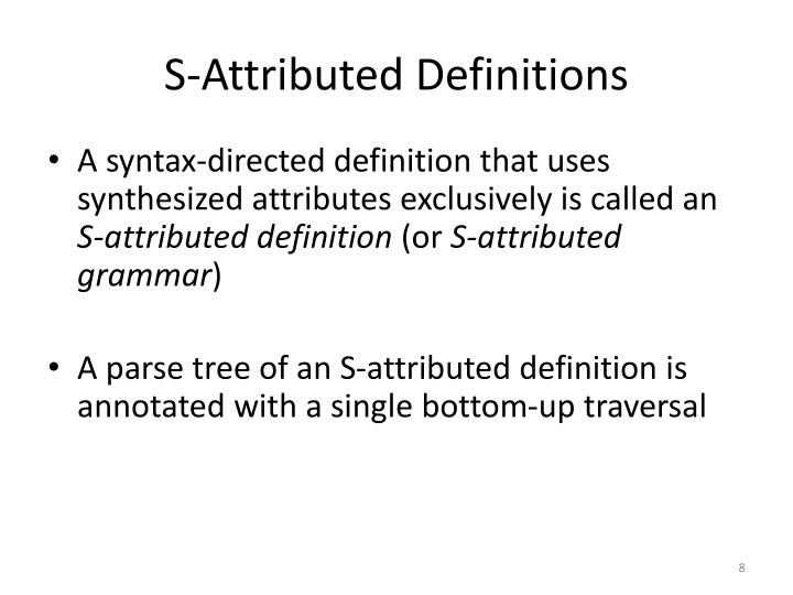 S-Attributed Definitions