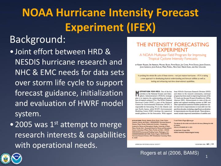 noaa hurricane intensity forecast experiment ifex n.