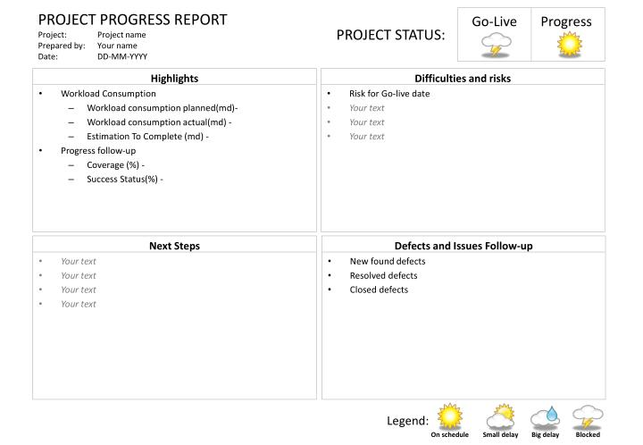 Ppt  Project Progress Report Project  Project Name Prepared By