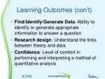 learning outcomes con t1