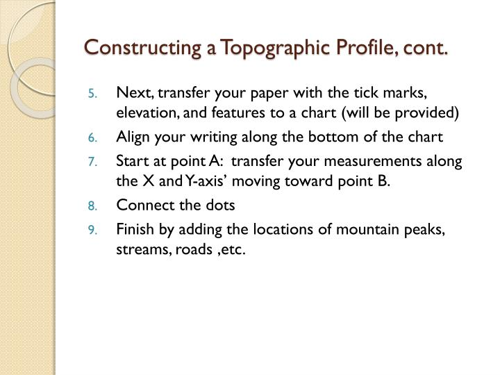 Constructing a Topographic