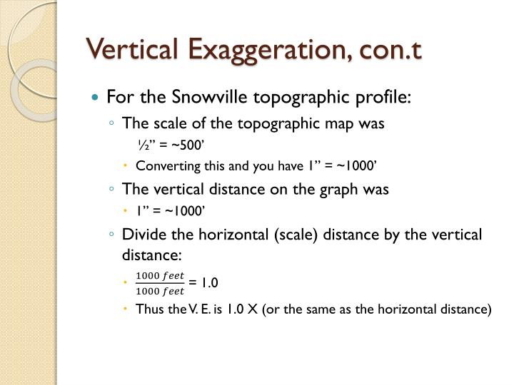 Vertical Exaggeration, con.t