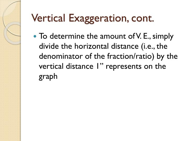 Vertical Exaggeration, cont.