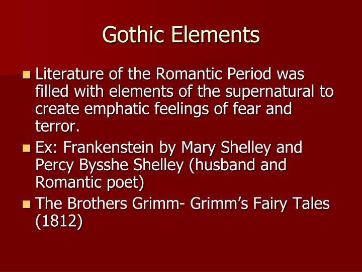 the romantic period in mary shelleys frankenstein Mary shelley in romanticism mary shelley's our romantic rebellion is a big theme in mary shelley's frankenstein.