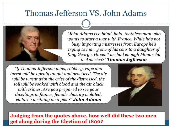 jeffersons revolution of 1800 essay Thomas jefferson's revolution of 1800 was remarkable in that it moved the united states away from its democratic ideals marked the peaceful and orderly transfer of power on the basis of election results accepted by all parties.