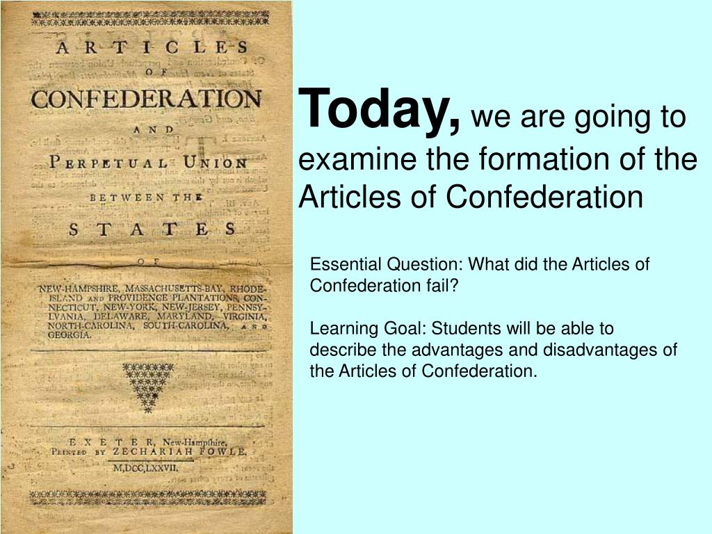 what did the articles of confederation fail to do