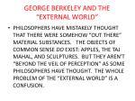 george berkeley and the external world
