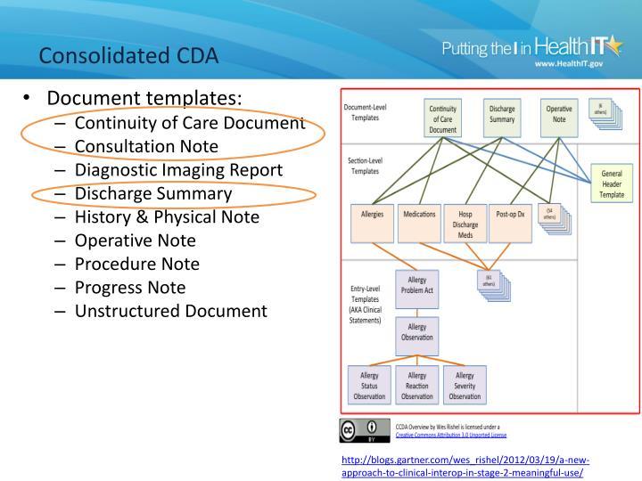 Consolidated cda