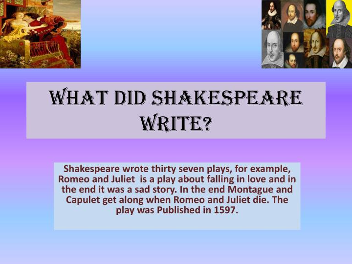 how do shakespeare and heaney present Douglas bruster is a professor of english at the university of texas at austin and specializes in shakespeare in 2013, his much-publicized research confirmed that the five additional passages in thomas kyd's the spanish tragedy were actually written by shakespeare.
