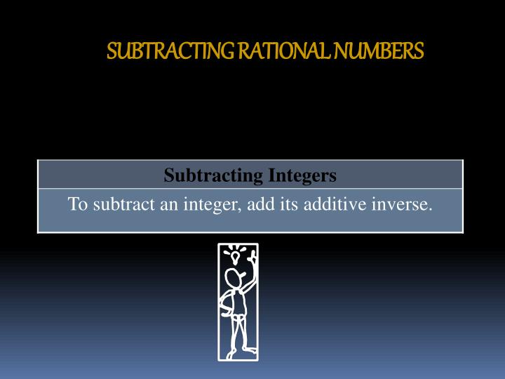 Subtracting rational numbers