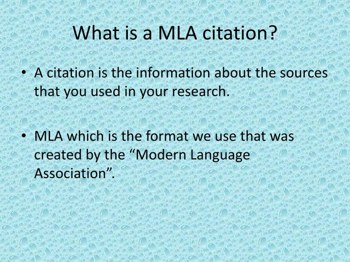mla format picture citation Mla (modern language association) style is most commonly used to write papers and cite sources within the liberal arts and humanities this resource, updated to reflect the mla handbook (8 th ed), offers examples for the general format of mla research papers, in-text citations, endnotes/footnotes, and the works cited page.