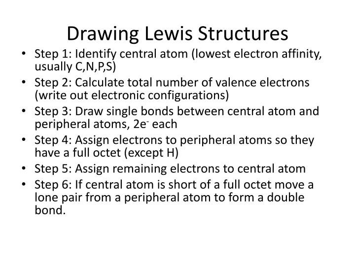 Ppt drawing lewis structures powerpoint presentation id3176477 drawing lewis structures ccuart Choice Image