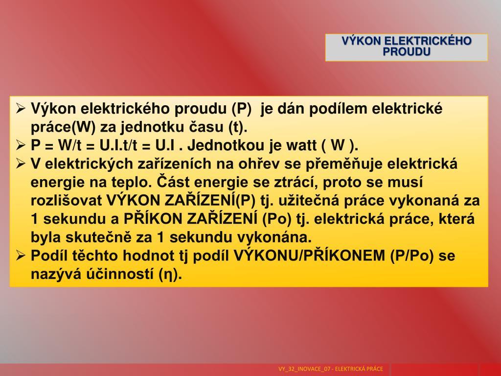 Elektrická práce jednotka