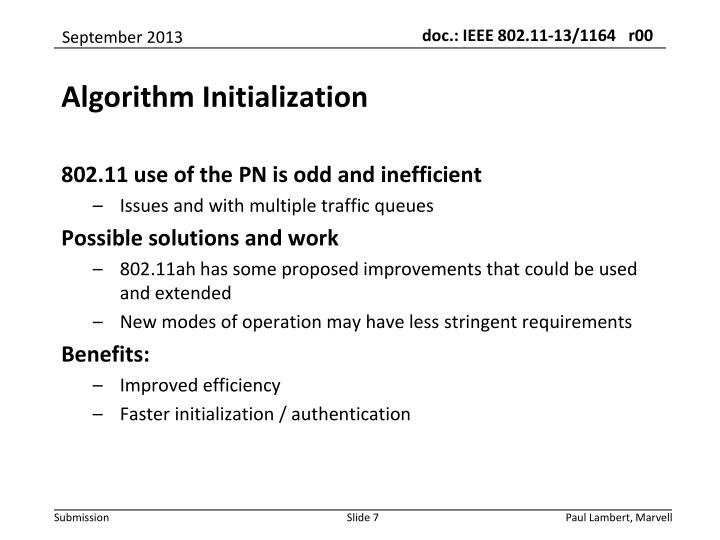 802.11 use of the PN is odd and inefficient