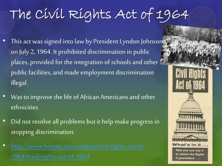 ppt civil rights act of 1964 and voting rights act of 1965