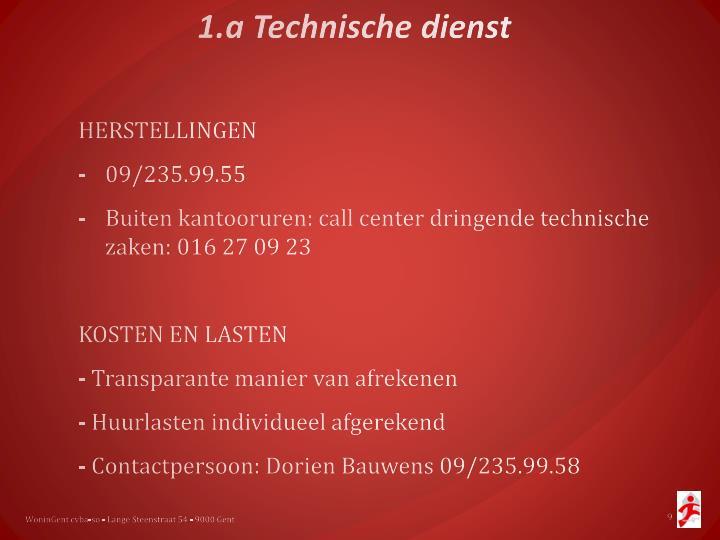 1.a Technische dienst