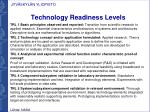 technology readiness l evels