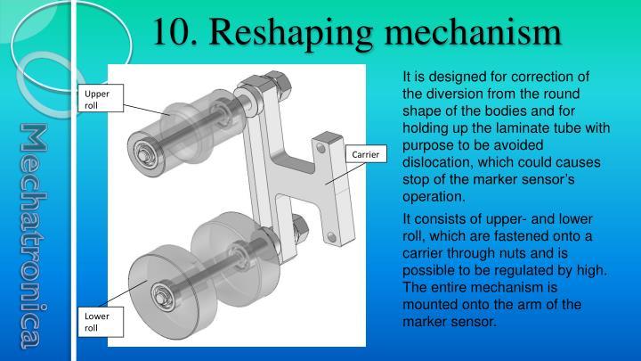 10. Reshaping mechanism