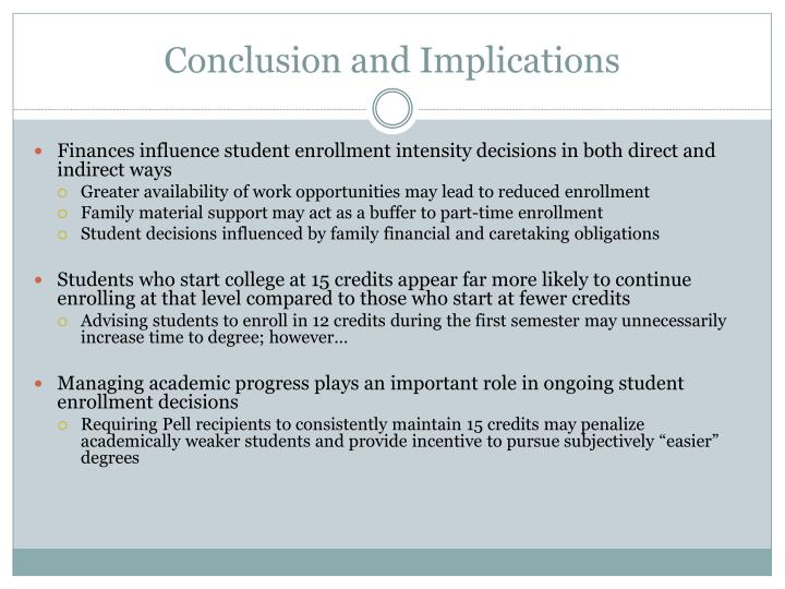 Conclusion and Implications