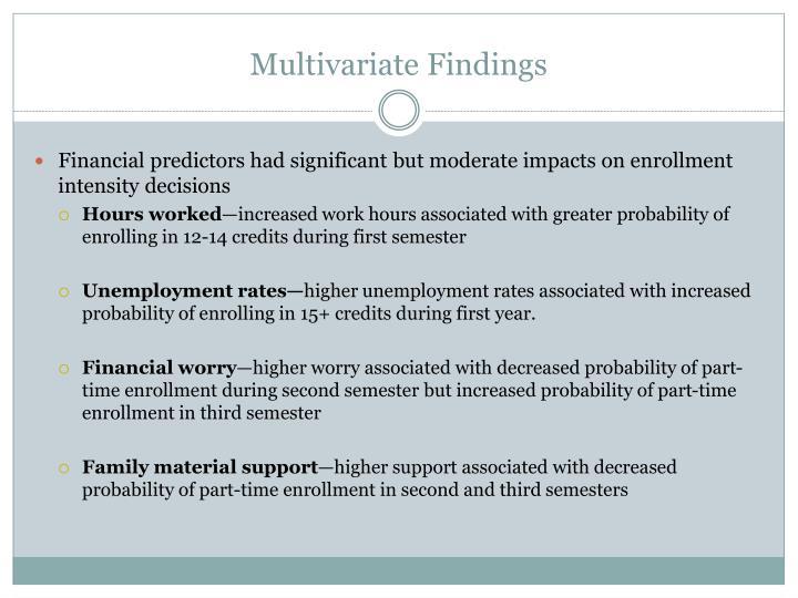 Multivariate Findings