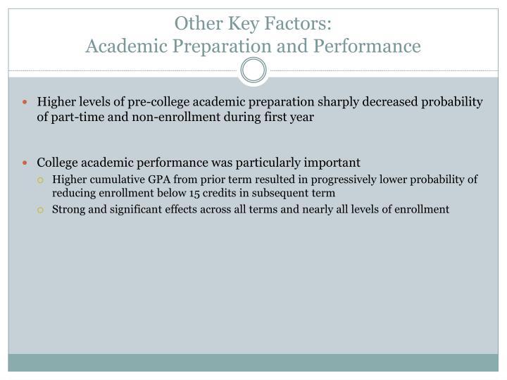 Other Key Factors: