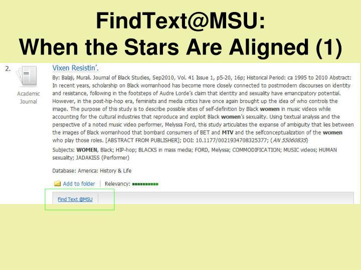 FindText@MSU