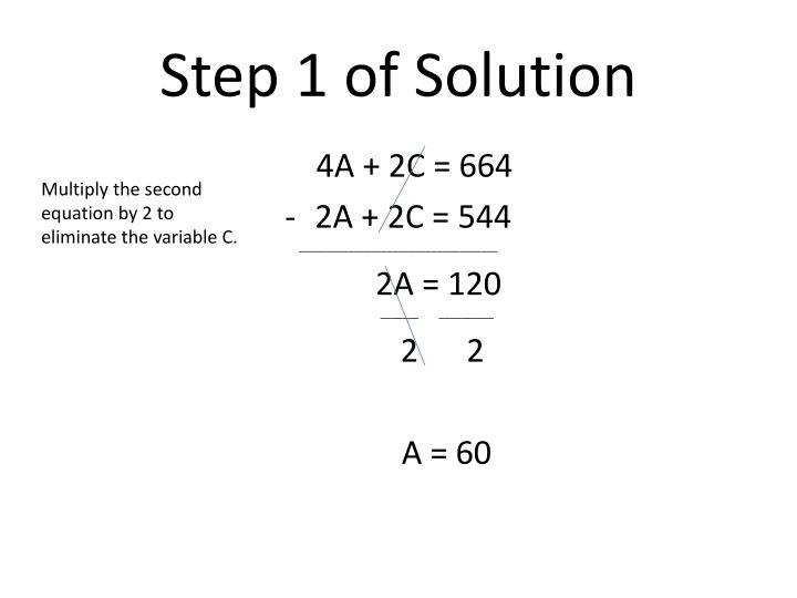 Step 1 of Solution