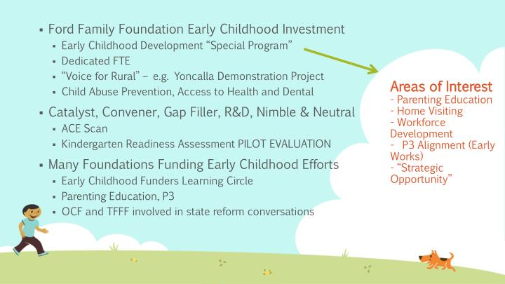 Ford Family Foundation Early Childhood Investment