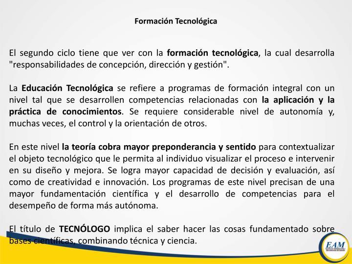 Formación Tecnológica