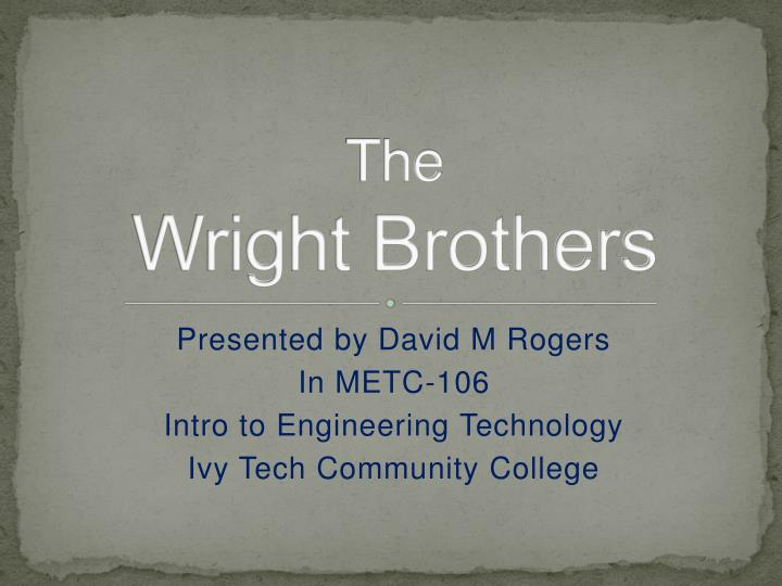 the wright brothers n.