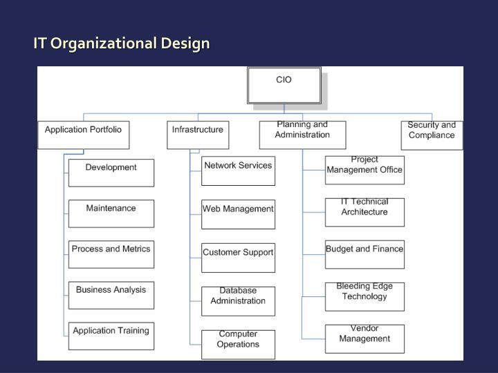 IT Organizational Design