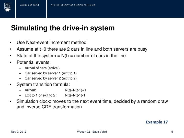 Simulating the drive-in system